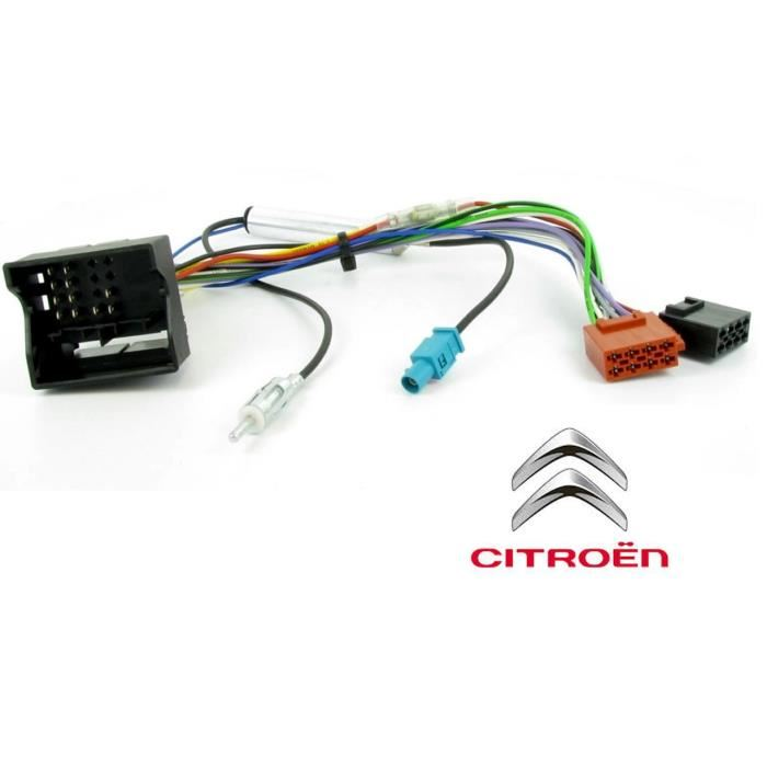 adaptateur iso peugeot 207