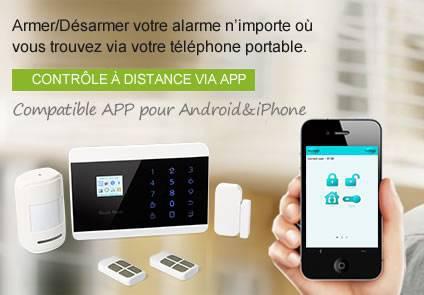 alarme maison telephone portable
