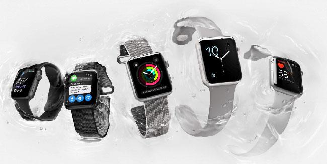 apple watch serie 1 douche
