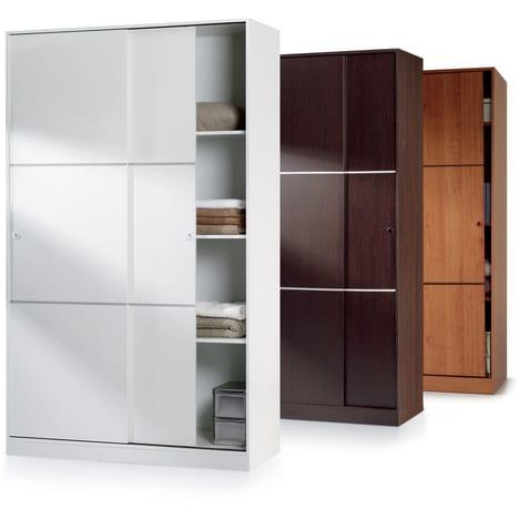 armoire 2 portes coulissantes pas cher