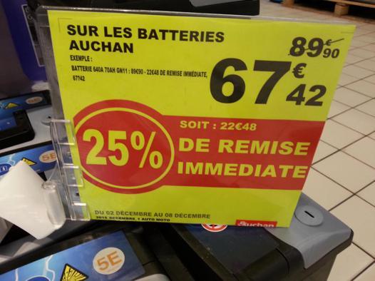 auchan batterie