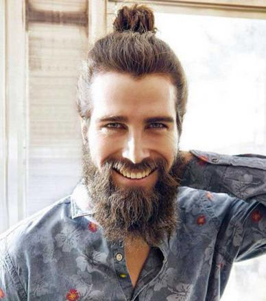 barbe longue homme