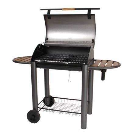 barbecue charbon de bois en fonte avec couvercle
