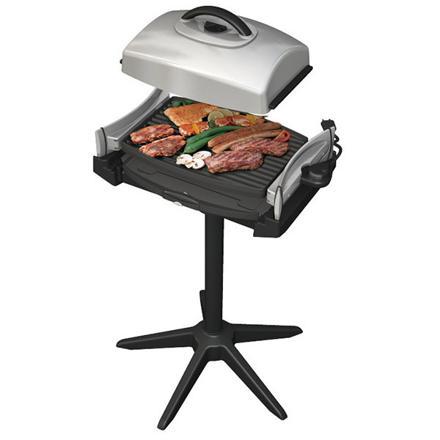 barbecue electrique sur pied avec couvercle