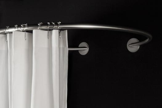 barre rideau de douche arrondie