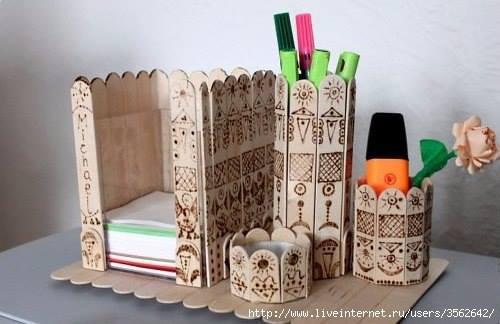 batonnets en bois bricolage