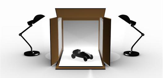 boite pour photographier objets