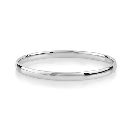 bracelet argent rigide femme