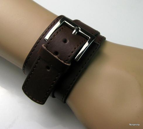 bracelet de force cuir femme