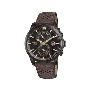 bracelet montre cuir lotus