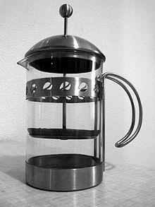 cafetiere en anglais