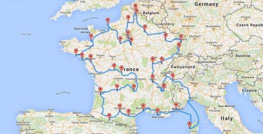 calcul itinéraire en camping car