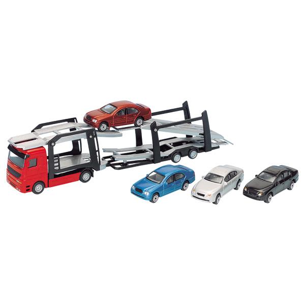 camion avec voiture jouet