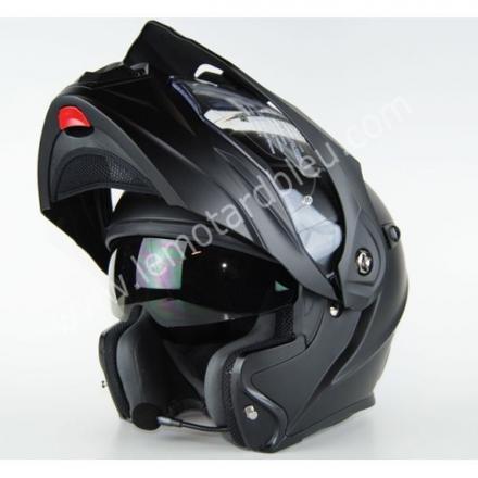 casque moto modulable avec intercom