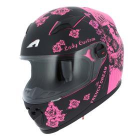 casque rose moto