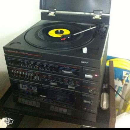 chaine hifi avec tourne disque vinyl