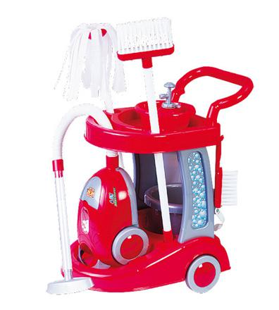 chariot de menage avec aspirateur jouet