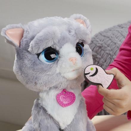 chat peluche interactif