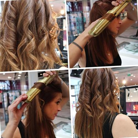 coiffure avec un lisseur