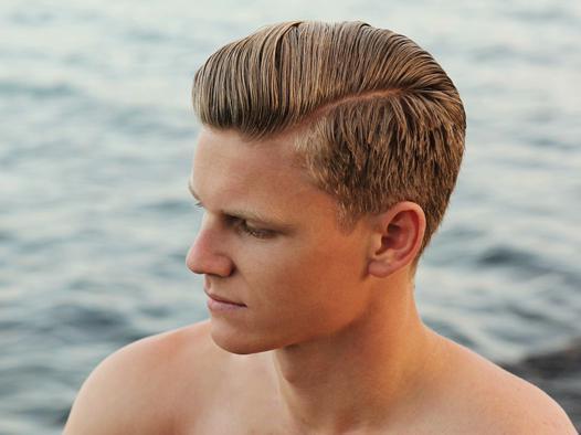 coiffure gel homme