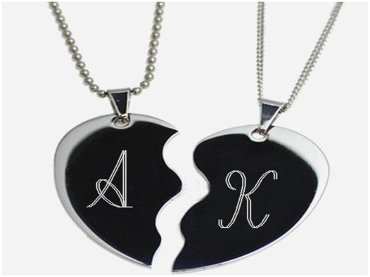 collier coeur separable