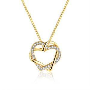 collier en forme de coeur pas cher