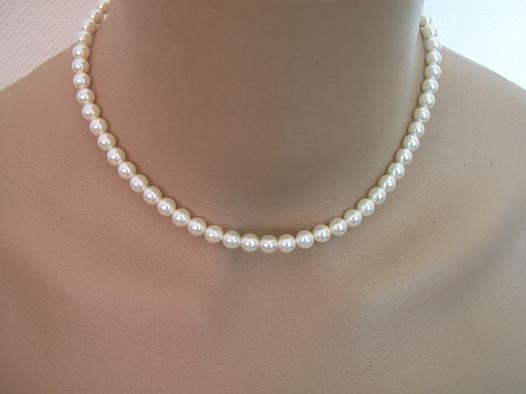collier perle blanche pas cher
