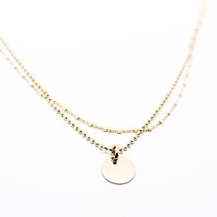 collier plaqué or femme