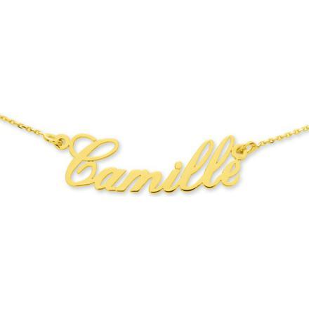 collier prenom en or
