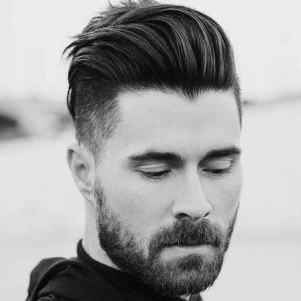 coupe de cheveux homme avec barbe