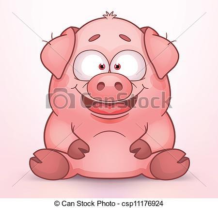 dessin de cochon mignon