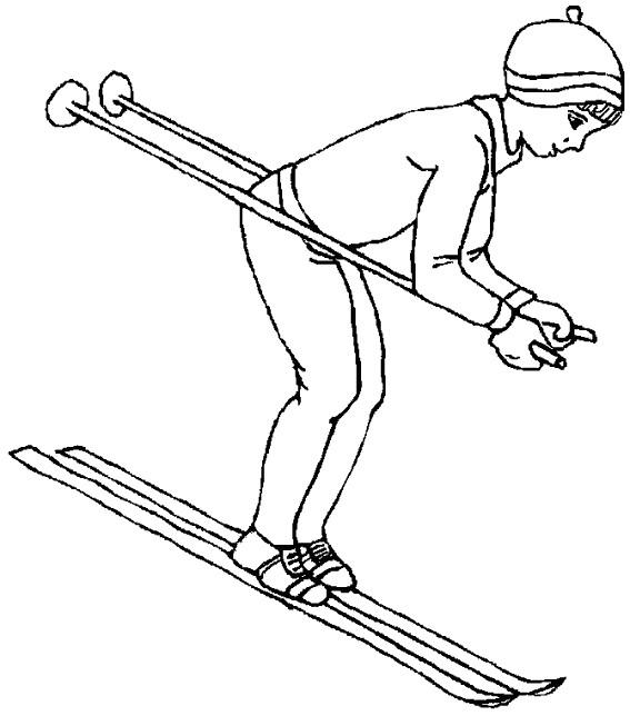 dessin de ski facile