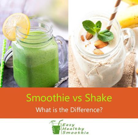 différence smoothie milkshake