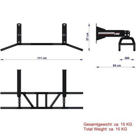 dimension barre traction