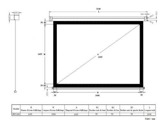 dimension tablette 7 pouces en cm