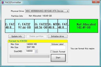 disque dur externe formater