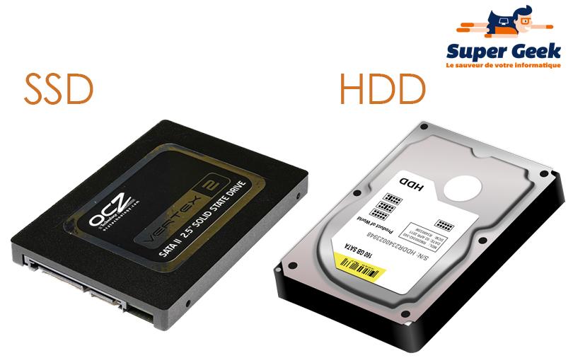 disque dur hdd ssd