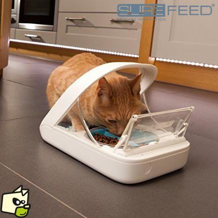 distributeur croquettes chat puce électronique