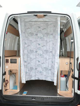 douche pliable camping car