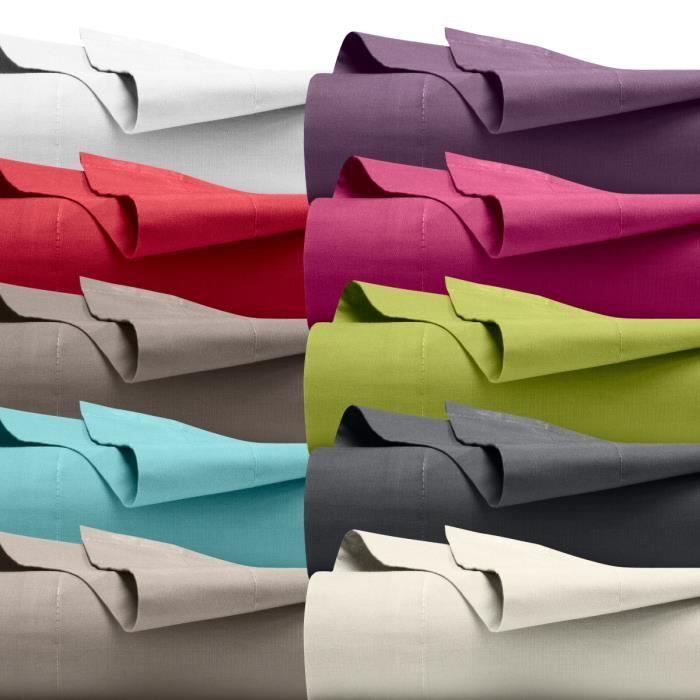 drap plat coton
