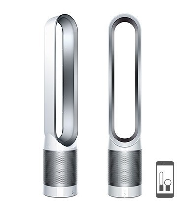 dyson pure cool link purificateur tour blanc argent