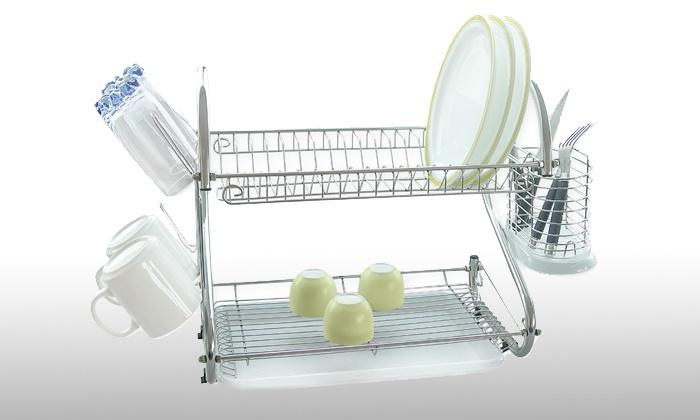 egouttoir à vaisselle en inox multifonctions