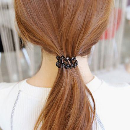 elastique cheveux spirale