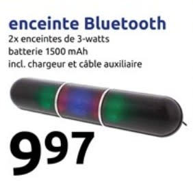 enceinte bluetooth action
