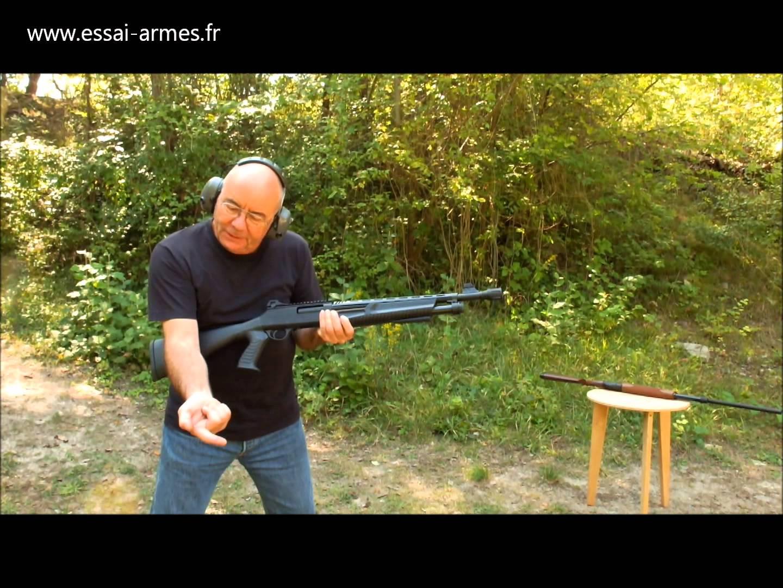 essai fusil a pompe