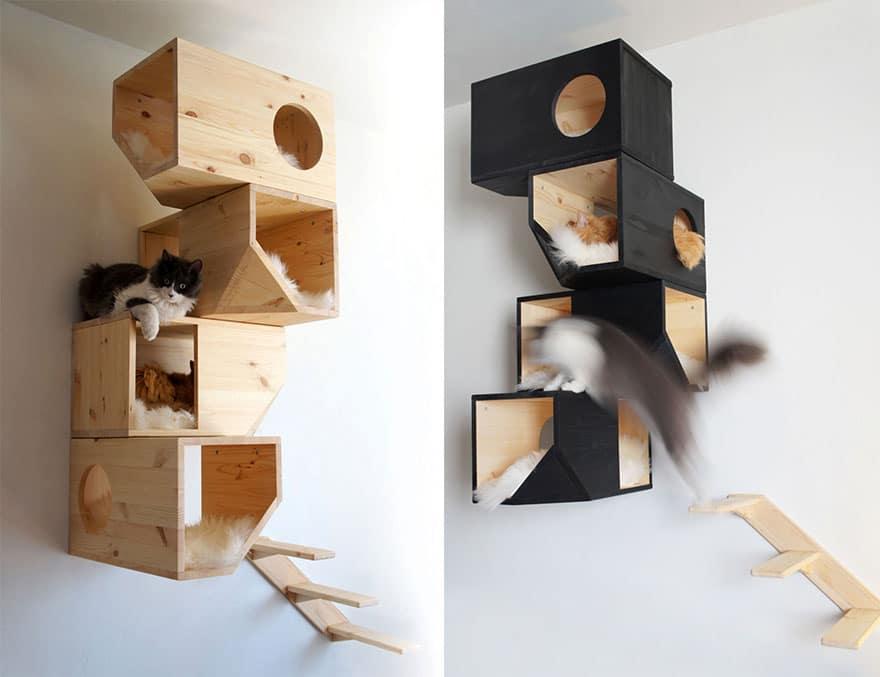 etagere murale pour chat