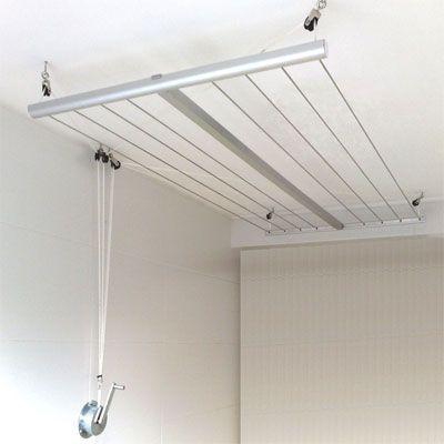 etendoir a linge suspendu au plafond