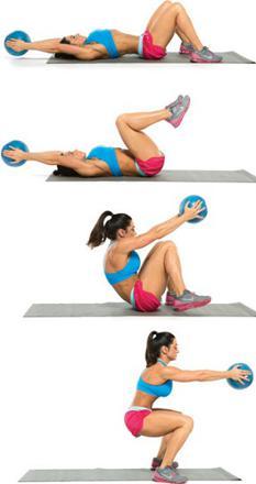 exercice avec medecine ball