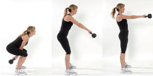 exercices kettlebell femme