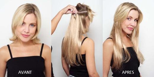 extension de cheveux a clip pas cher